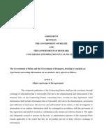 TIEA agreement between Belize and Denmark