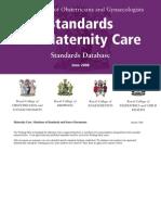 Maternity Standards Database 0608