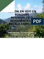 Cesiones en Uso en Bosques Remanentes a Escala Familiar Final Deacrn