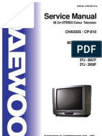 Daewoo TV CP810 Service Manual