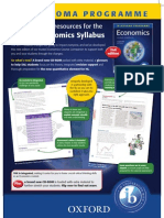 A full suite of resources for the new IB Economics syllabus