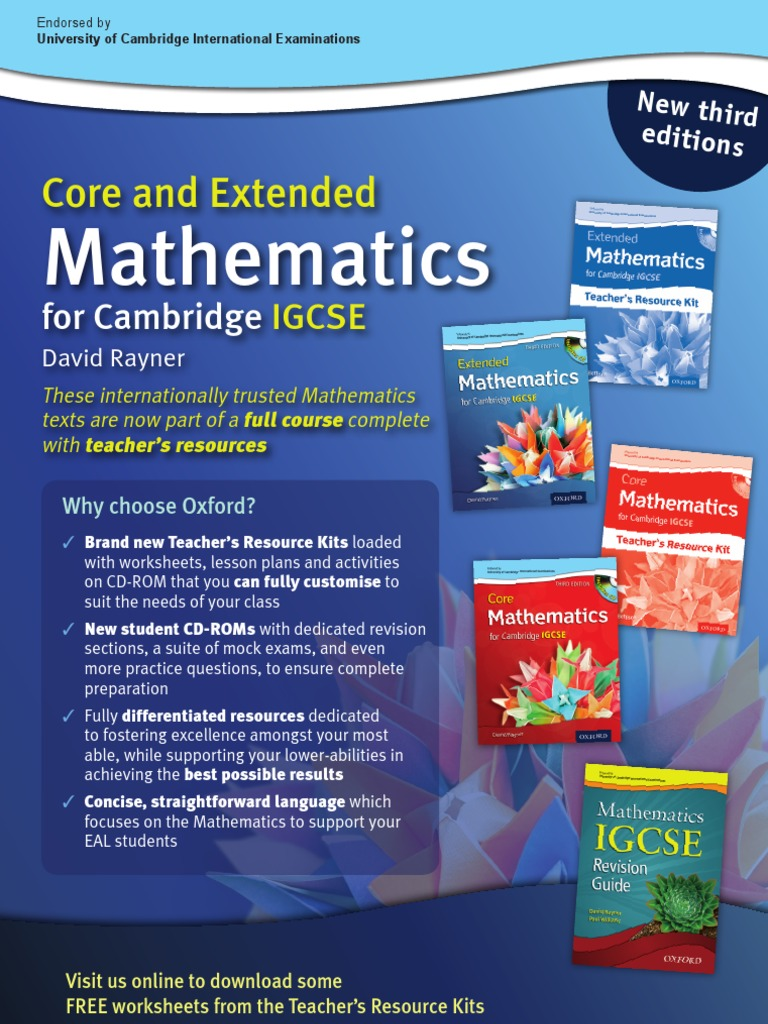 Rayner\'s Core & Extended Mathematics for Cambridge IGCSE   Speed ...