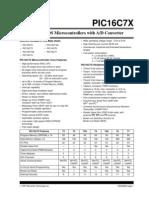 Pic16c7x Micro Controller Data Sheet