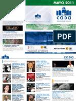 Programación CADA-Alcoy. Mayo 2011. Obra Social. Caja Mediterráneo