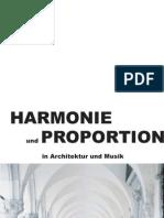 Harmonie und Proportion in Architektur und Musik