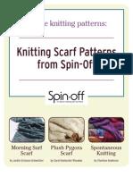 3 Free Scarf Knitting Patterns