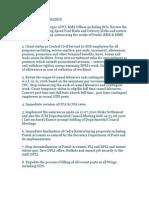 Charter of Demands