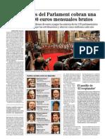 El Mundo - Los diputados del Parlament cobran una media de 7.000 euros mensuales brutos