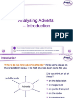 Analysing Adverts - Introduction