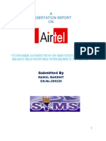 My Dissertation Report on Airtel