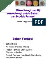 Standar Mikrobiologi Untuk Produk Farmasi1