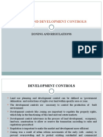 Zoning and Development Controls