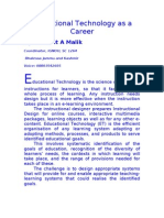 Educational Technology as a Career