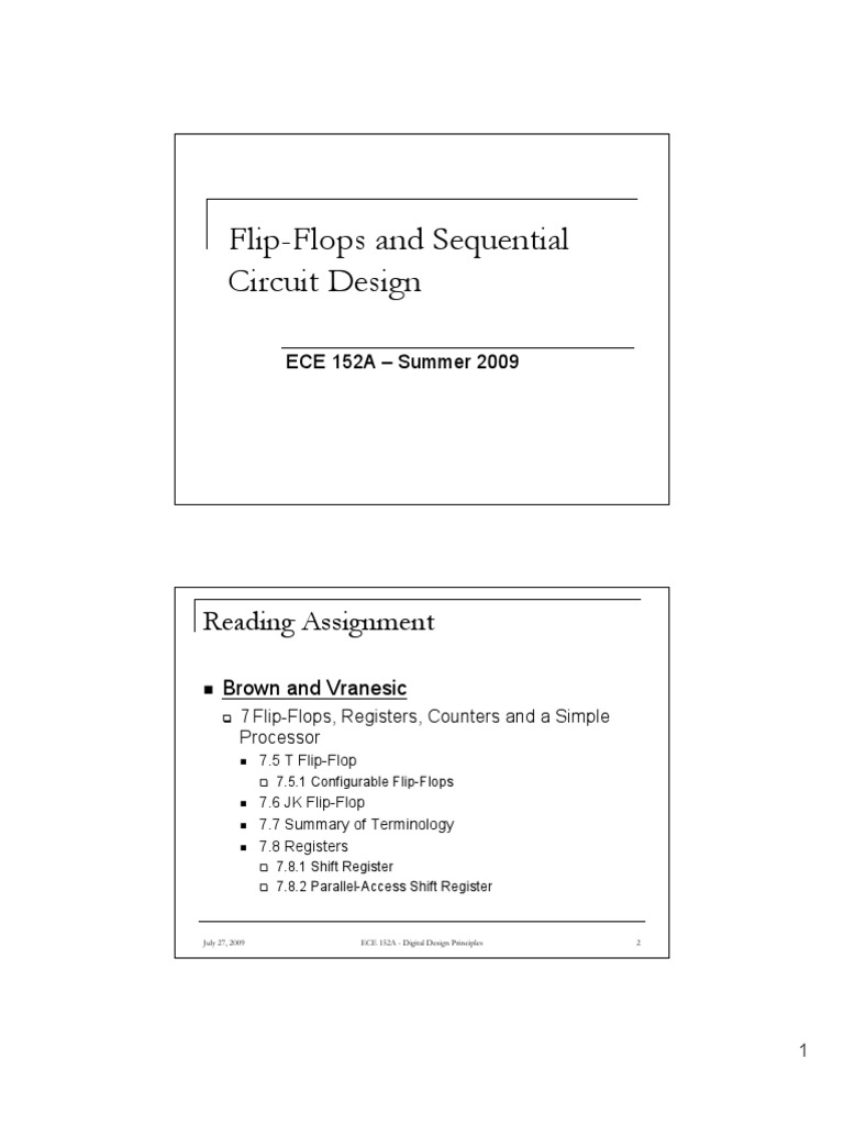 L7 Flip Flops And Sequential Circuit Design Pdf Search Engine Counter Digital Technology Social Media