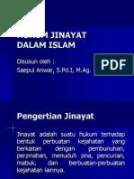 Hukum Jinayat Dalam Islam