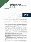 NKVD informant networks & UPA in Halychyna