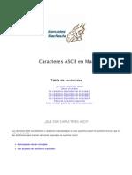 Caracteres ASCII en Mac