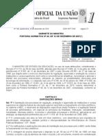 Portaria Normativa MEC nº. 40 de 2007 _ Republicada em 29 de dezembro de 2010