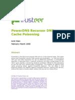 PowerDNS Recursor DNS Cache Poisoning