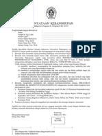 Surat Pernyataan Undip
