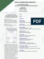 Lander, Edgardo (Comp.) - La Colonial Id Ad Del Saber; Eurocentrismo y Ciencia Sociales. Perspectivas La Ti No American As