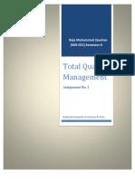 Assignment No. 1 TQM (Raja M Zeeshan IME-021) [Deming vs Juran]