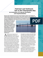 Nutrient and Sediment Reduction Goals in the Chesapeake Bay, Report in Brief