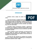 Programa Municipal Pp Sant Josep 2011