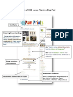 Elements of UBD Lesson Plan in a Blog Post