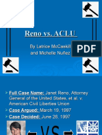 Reno vs ACLU