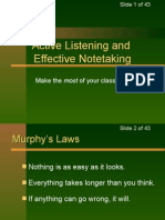 Listening and Note Taking