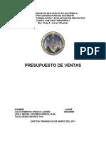 PRESUPUESTOS DE VENTAS