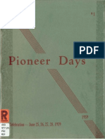 Pioneer Days - A History of Early Bloomfield and Greene County - 1959