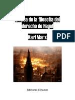 17426950 Karl Marx Critica de La Filosofia Del Derecho de Hegel