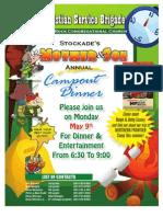 Mother & Son Dinner Flyer