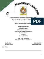 Gaurav Internship for Computer Department