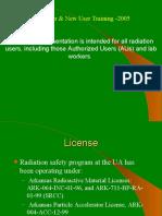 Radiation Safety Training_2005