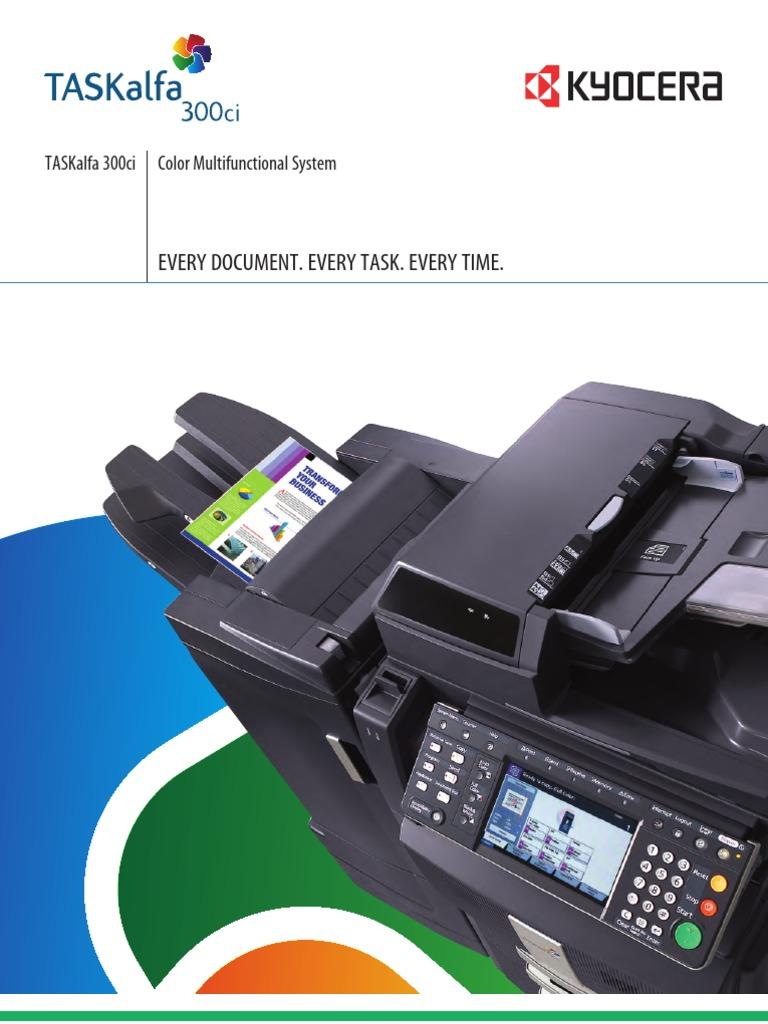 TASKalfa 300ci 2-Pg Specification Sheet Rd   Fax (38 views)