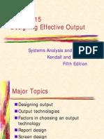 Design Efective Output