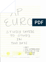 AP European History Study Guide