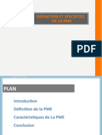 Definition Et Specifites de La Pme