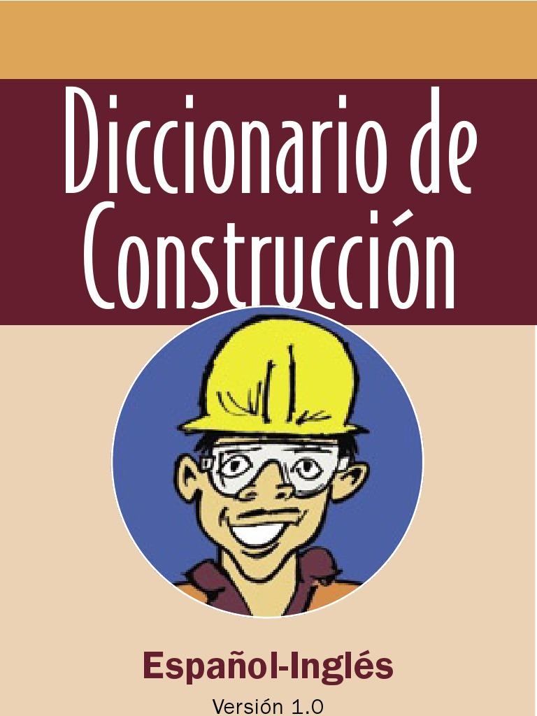 diccionario de construccion espa241ol ingles