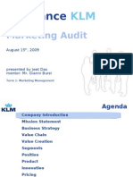 Jeet KLM Marketing Audit 15 Aug 09xi