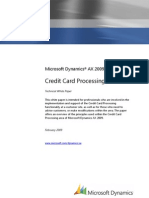 Credit Card Processing for Dynamics AX 2009