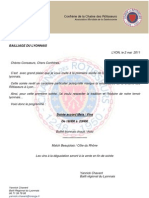 Invitation Bailliage Du Lyonnais 23 MAI