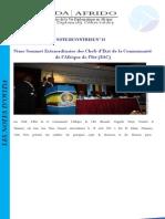 Synthèse du 9ème Sommet Extraordinaire des Chefs d'Etat de la Communauté d'Afrique de l'Est (EAC)