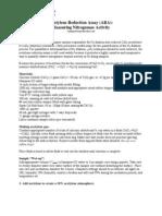 Acetylene Reduction Assay