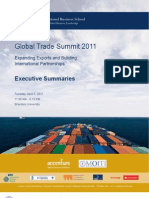 Brandeis IBS Global Trade Summit 2011 Exec Summary