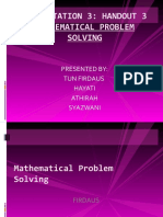 Mathematical Problem Solving Latest