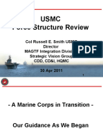 Marine Corps Force Structure Review - April 30, 2011